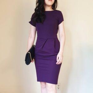 Zara Purple Business Work Dress Pencil Shaped